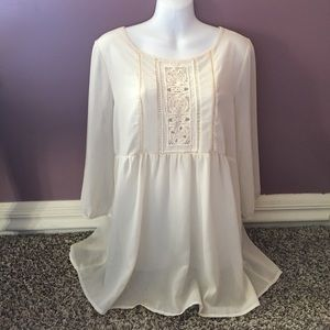 Monteau Cream Blouse