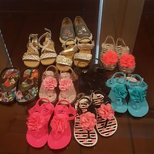 Other - Lot of 10 toddler sandals all Size 7