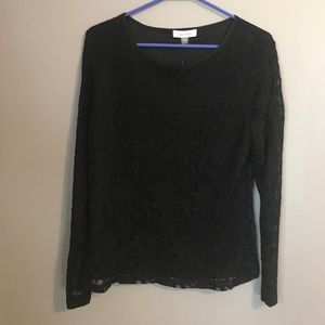 Black NWT CK lace top