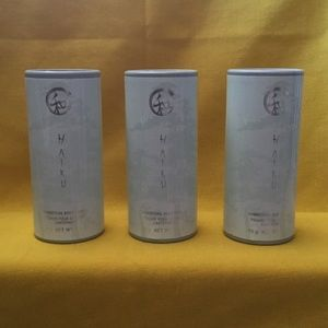 3 Avon Haiku shimmering Body powder