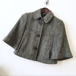 Gap Herringbone Cropped Wool Jacket