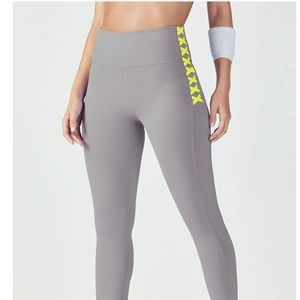 Fabletics high waisted lace up legging NWT!
