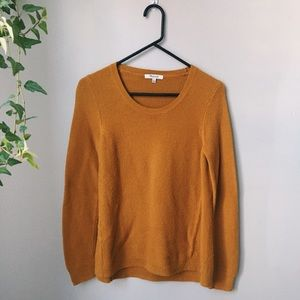 Mustard Madewell sweater