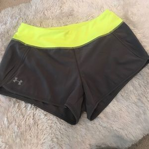 Pants - Adorable Under Armour neon shorts