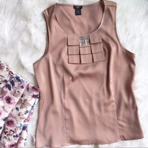 Ann Taylor Sleeveless Career Blouse