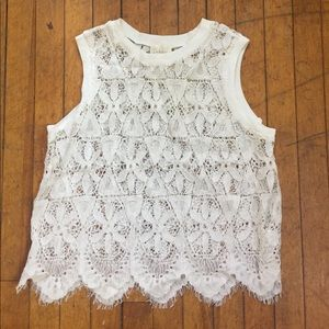 Anthropologie Deletta Lace Tank