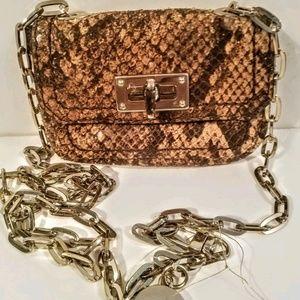 NWT Banana Republic Brown Croc Crossbody handbag