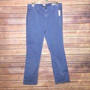GAP Blue Girlfriend Chino Pants Size 2