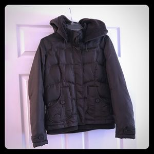 Brown DKNY Active Puffer Coat