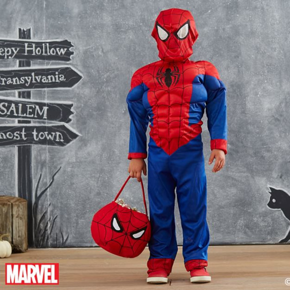 1a705fade980 Light Up Spiderman Costume Small w/matching bag