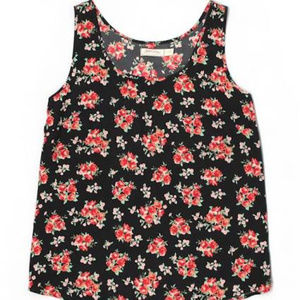 {Faded Glory} Floral Woven Tank