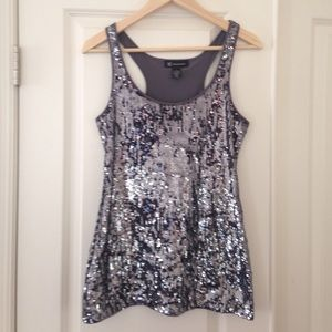 NWOT INC sequence holiday tank, size small