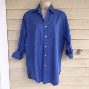 RALPH LAUREN oversized cotton blue shirt/NICE