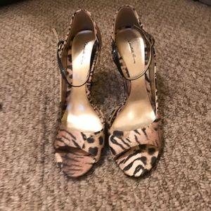 Cheetah Print Open-Toe Heels