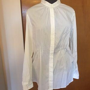 Kenar tunic length button up blouse