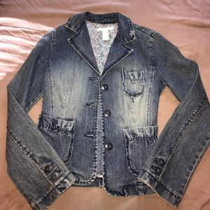 Blue Jean blazer from Charlotte Russe