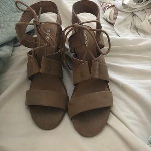 Women's Lace up block heel sandal