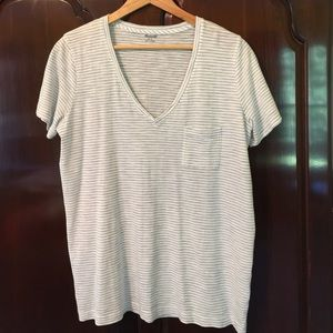 Madewell t-shirt Blue/white stripe large