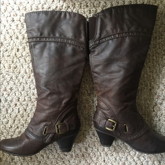 f60311b269aa9 Bare Traps Shoes - 🔥Sale Brown Bare Traps Boots Wide Calf size 8