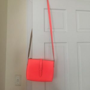 J crew cross body bag in neon red