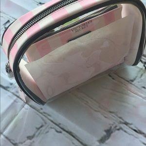 2 new VS stripe cosmetic bags