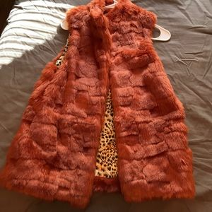 Furry Vest from forver21
