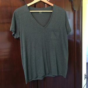 Madewell t-shirt green large