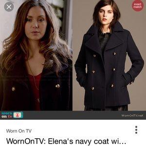ASO Elena Gilbert Banana Republic Wool Peacoat