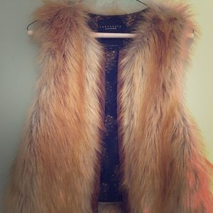 Sanctuary clothing faux fur vest. Small. Like new.