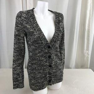 Madewell Wallace Black White Cardigan Sweater