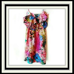 Wet Seal Empire Multi Color Dress