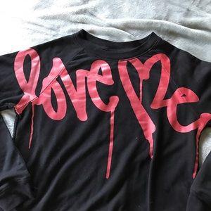 """Love Me"" Red & Black Sweatshirt from Curtis Kulig"
