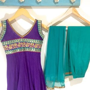 Other - size 30 Indian Girls Suit green purple 3pc set