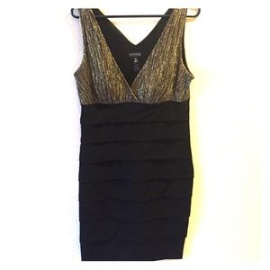 Dresses & Skirts - Black and gold cocktail dress