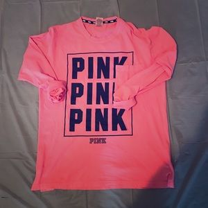 Victoria's Secret PINK long sleeve Tee size L!