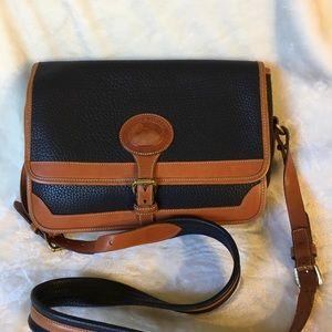 Vintage Dooney & Bourke black/tan leather bag