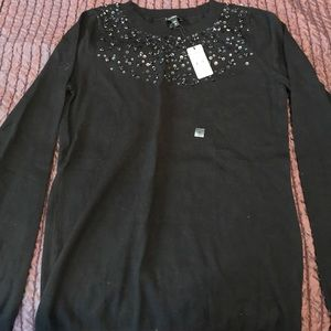 Express Sequin Detail Sweater