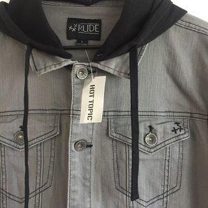 Hot Topic Jackets Coats Rude Mens Jacket Poshmark