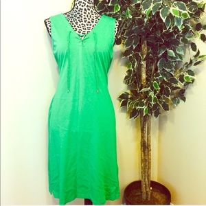 ⚡️⚡️LAUREN Ralph Lauren Green Sleeveless Tie Dress