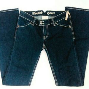 TWISTED HEART Jeans - Designer Twisted Heart Jeans NWOT