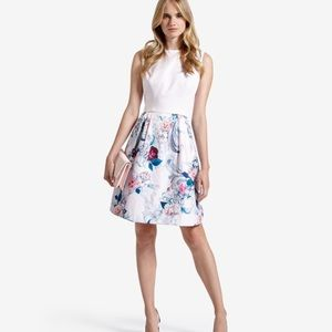 • Ted Baker • Eilah Nude Acanthus Scroll Dress 10