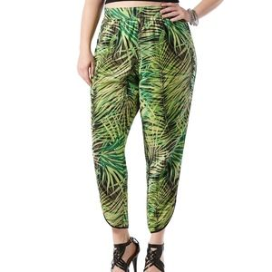 Harper+Liv Printed Palms Soft Pants