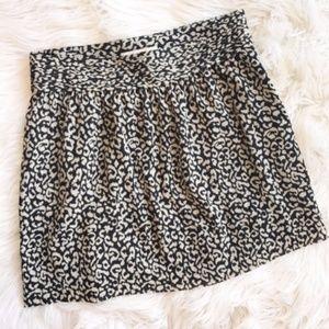 Loft Cheetah Print Mini Skirt