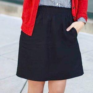 J. Crew Linen-Cotton Sidewalk Mini Skirt