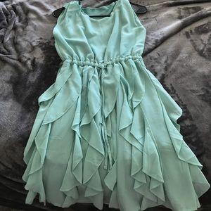 Dresses & Skirts - Teal Ruffle Skirt Dress