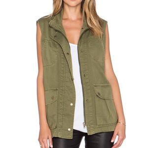 Current Elliott The Leisure Vest, Army Green 1 /S