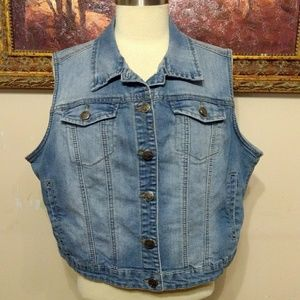 *Earl Jean* Vest Sleeveless Jacket XL Denim
