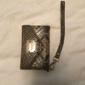 Michael Kors wristlet wallet with phone slot