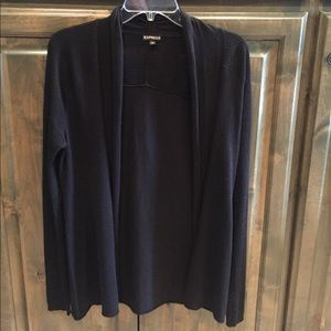 Express Cashmere Cardigan Sweater Black M $59!