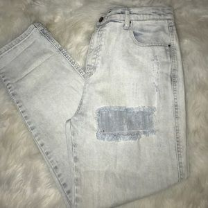 NWT light wash distressed jeans